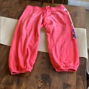 Pink Capri sweat pants